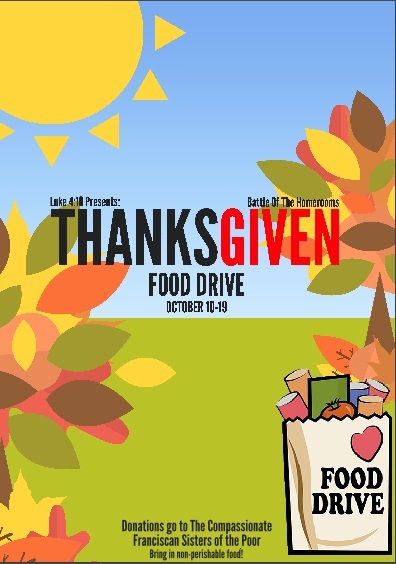 "Support our Thanks""Given"" Food Drive!"