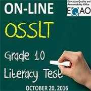 OSSLT Schedule for October 20