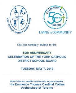 YCDSB celebrates 50 years
