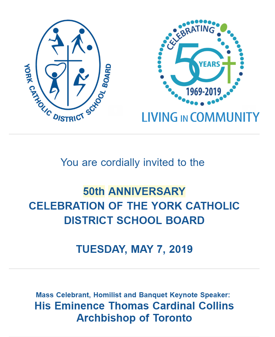 YCDSB celebrates 50 years